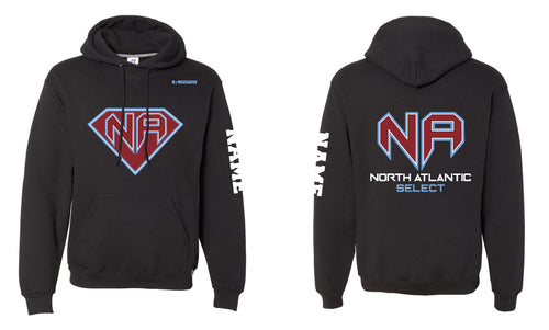 North Atlantic Select Russell Athletic Cotton Hoodie Black - 5KounT2018