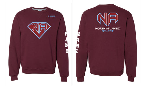 North Atlantic Select Baseball Russell Athletic Cotton Crewneck Sweatshirt Black - 5KounT2018