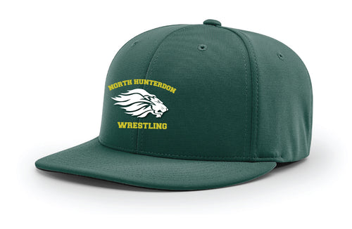 North Hunterdon Wrestling FlexFit Cap - Green