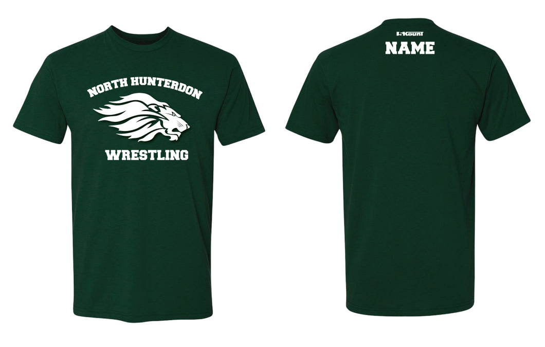 North Hunterdon Wrestling Unisex Cotton Crew Tee - Forest