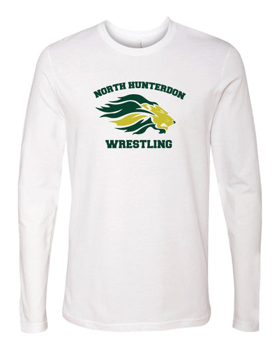 North Hunterdon Wrestling Unisex Long Sleeve Cotton Crew - White