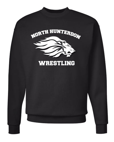 North Hunterdon Wrestling Crewneck Sweatshirt - Black