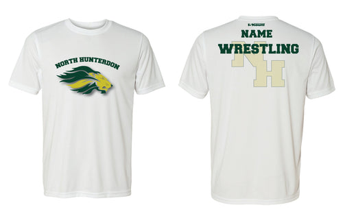 North Hunterdon Wrestling Unisex DryFit Performance Tee - White