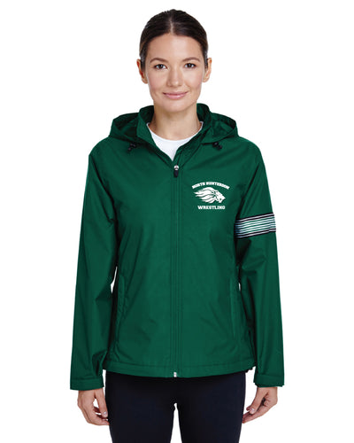 North Hunterdon Wrestling Women All Season Hooded Jacket  - Green
