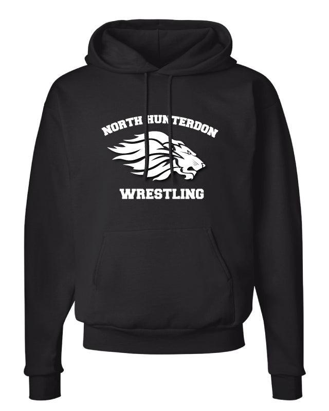 North Hunterdon Wrestling Cotton Hoodie - Black - 5KounT2018