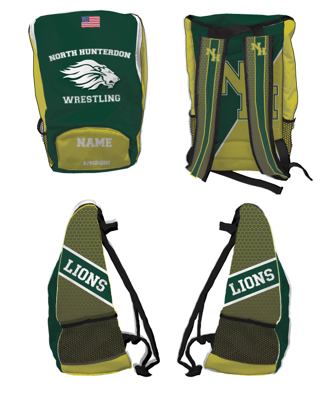 North Hunterdon Wrestling Sublimated Backpack