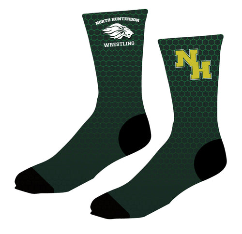 North Hunterdon Wrestling Sublimated Socks