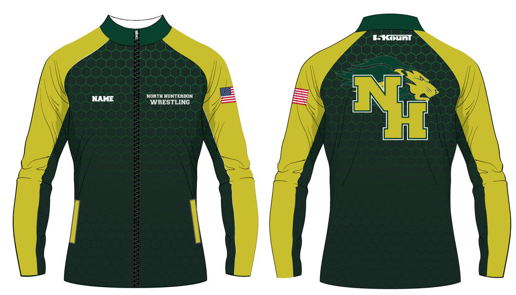 North Hunterdon Wrestling Sublimated Warmup Jacket - 5KounT2018