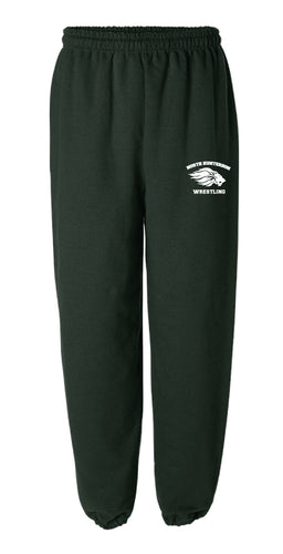 North Hunterdon Wrestling Cotton Sweatpants - Forest