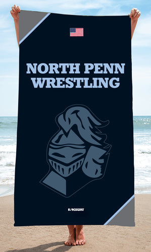 North Penn Wrestling Sublimated Beach Towel - 5KounT2018