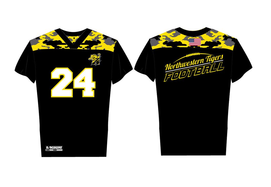 Northwestern Tigers Flag-Football Sublimated Jersey