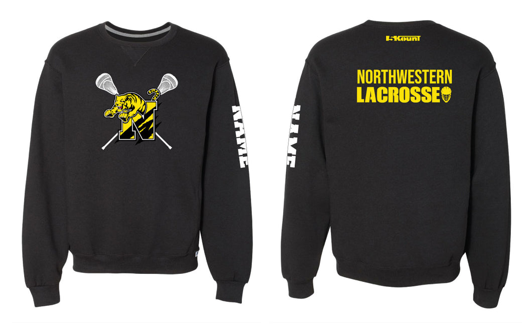 Northwestern Lacrosse Russell Athletic Cotton Crewneck