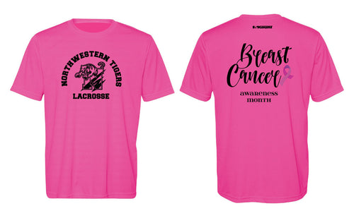 Northwestern Lacrosse Men's DryFit Performance Tee -  Sport Charity Pink