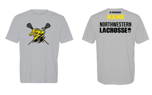 Northwestern Lacrosse Dryfit Performance Tee - Gray/White