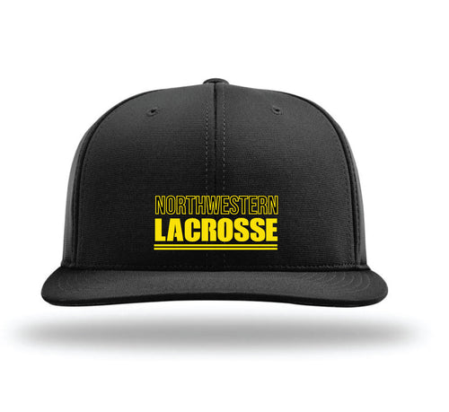 Northwestern Lacrosse Flexfit Cap - Black