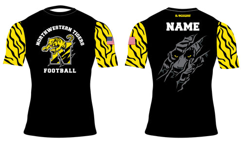 Northwestern Tigers Football Sublimated Compression Shirt