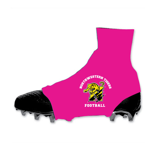 SALE: Northwestern Tigers Sublimated Pink Spats Cleat Covers (Pair)