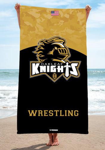 Oakleaf Knights HS Sublimated Beach Towel - 5KounT2018