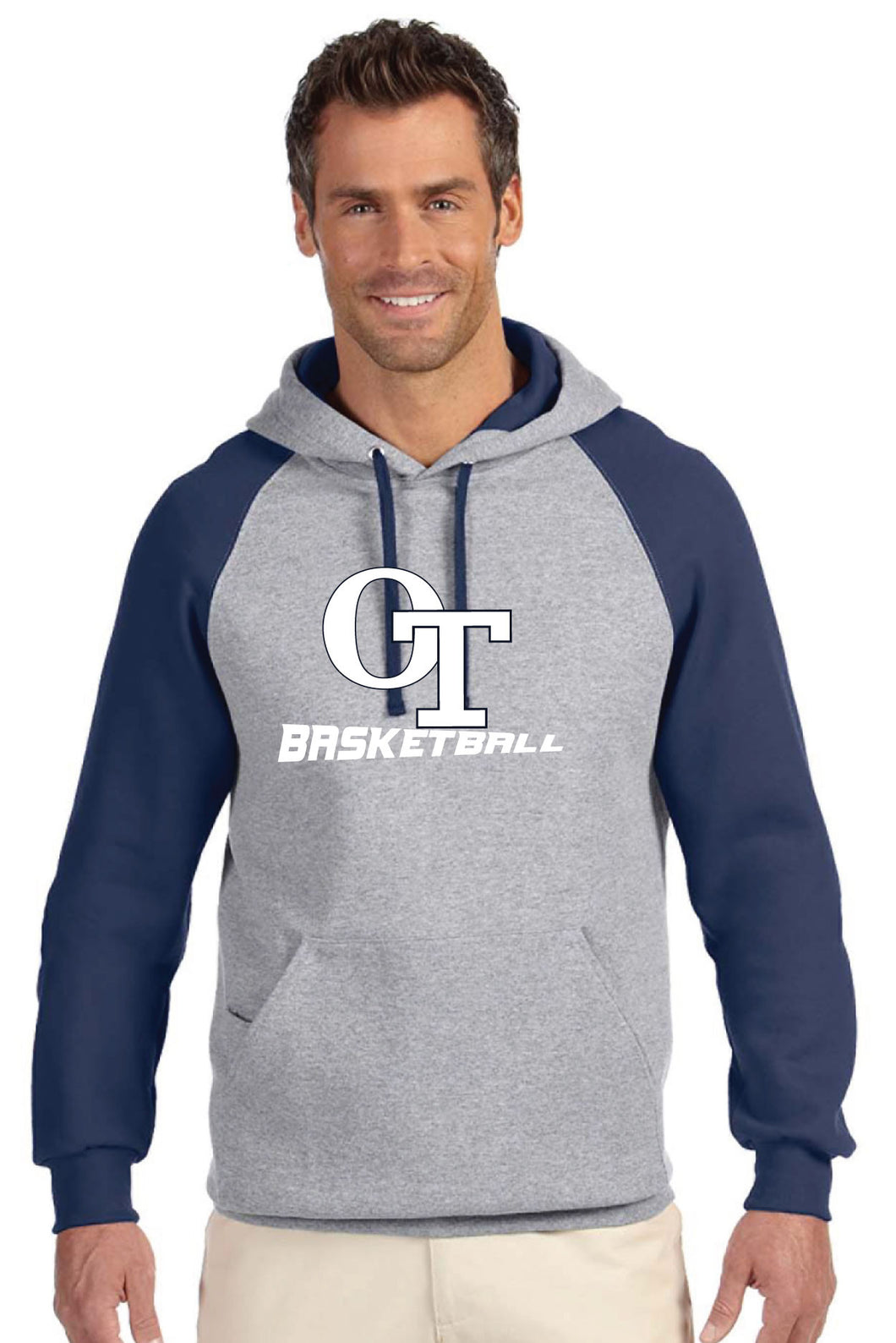 OT Basketball Adult Colorblock Hoodie