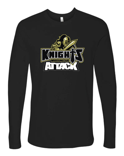 Oakleaf Knights Club Long Sleeve Cotton Crew - Black - 5KounT2018