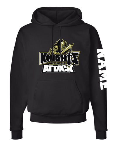 Oakleaf Knights Club Cotton Hoodie - Black - 5KounT2018