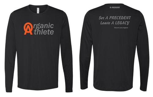 Organic Athlete Long Sleeve DryFit Tee - Black 1.0