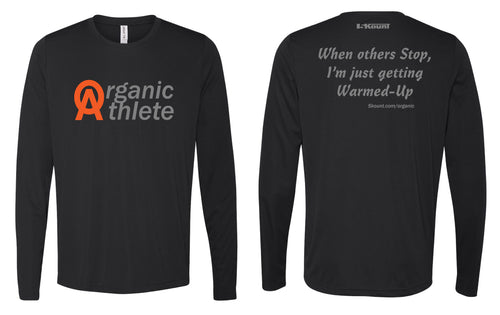 Organic Athlete Long Sleeve DryFit Tee - Black 2.0