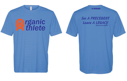 Organic Athlete DryFit Tee - Blue 1.0
