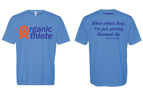 Organic Athlete DryFit Tee - Blue 2.0