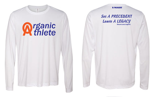 Organic Athlete Long Sleeve DryFit Tee - White 1.0