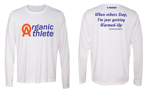 Organic Athlete Long Sleeve DryFit Tee - White 2.0