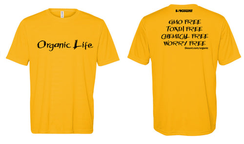 Organic Life DryFit Tee - Athletic Gold 1.0