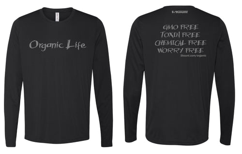 Organic Life Long Sleeve DryFit Tee - Black 1.0