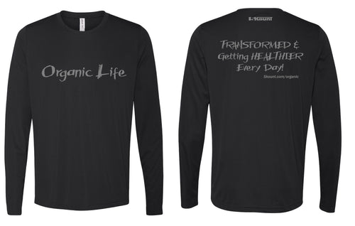 Organic Life Long Sleeve DryFit Tee - Black 2.0