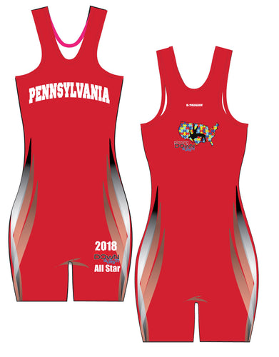 Pinning Down Autism Singlet - All-Star Team Pennsylvania - Girls [REQUIRED UNIFORM] - 5KounT2018