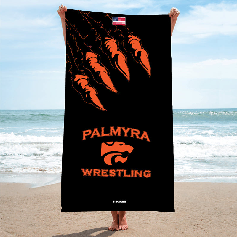 Palmyra Wrestling Sublimated Beach Towel