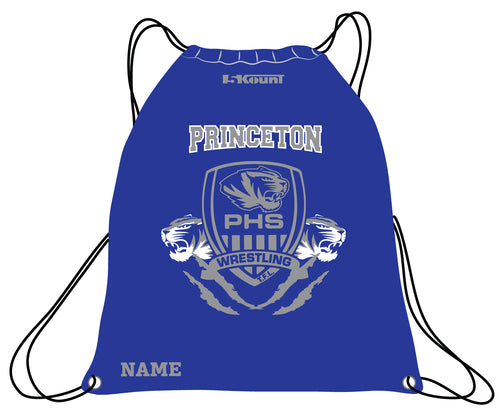 Princeton HS Wrestling Sublimated Drawstring Bag