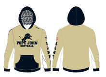 Pope John Softball Sublimated Hoodie - Gold - 5KounT2018