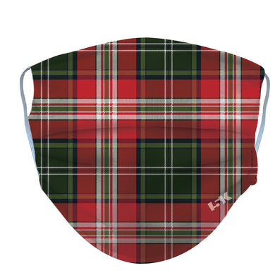 Red Plaid Reusable Face Mask - 5KounT2018