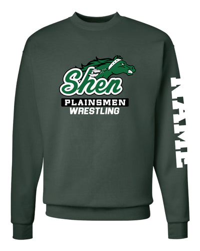 Plainsmen Wrestling Crewneck Sweatshirt - Forest