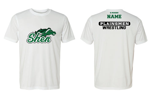Plainsmen Wrestling DryFit Performance Tee - White