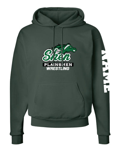 Plainsmen Wrestling Cotton Hoodie - Forest