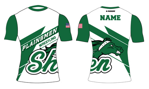 Plainsmen Wrestling Sublimated Compression Shirt