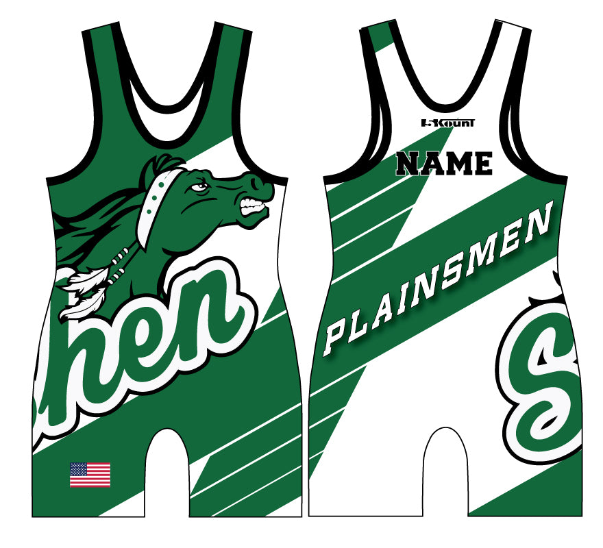 Plainsmen Wrestling Sublimated Singlet