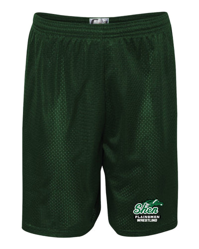 Plainsmen Wrestling Tech Shorts - Forest