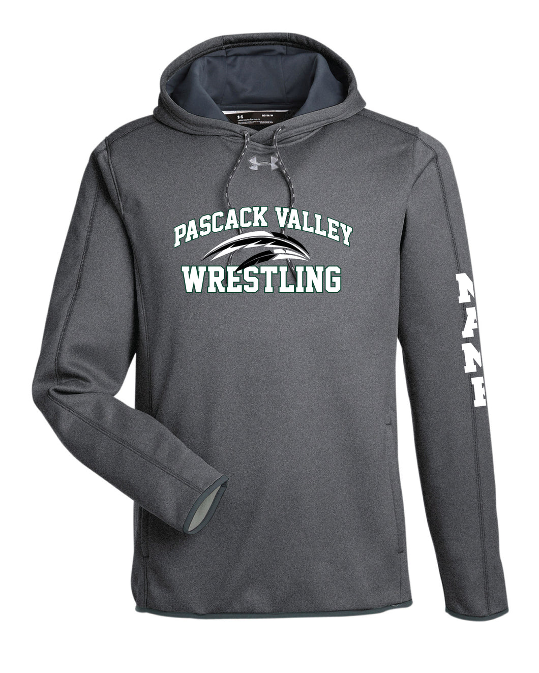 Pascack Valley Wrestling Under Armour Men's Fleece Hoodie - Grey - 5KounT2018