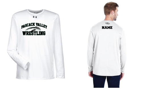 Pascack Valley Wrestling Under Armour Long Sleeve Shirt - White / Green - 5KounT2018