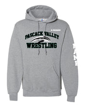 Pascack Valley Wrestling Russell Athletic Cotton Hoodie - Black / Gray