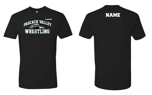 Pascack Valley Wrestling Cotton Crew Tee - Black / Gray - 5KounT2018