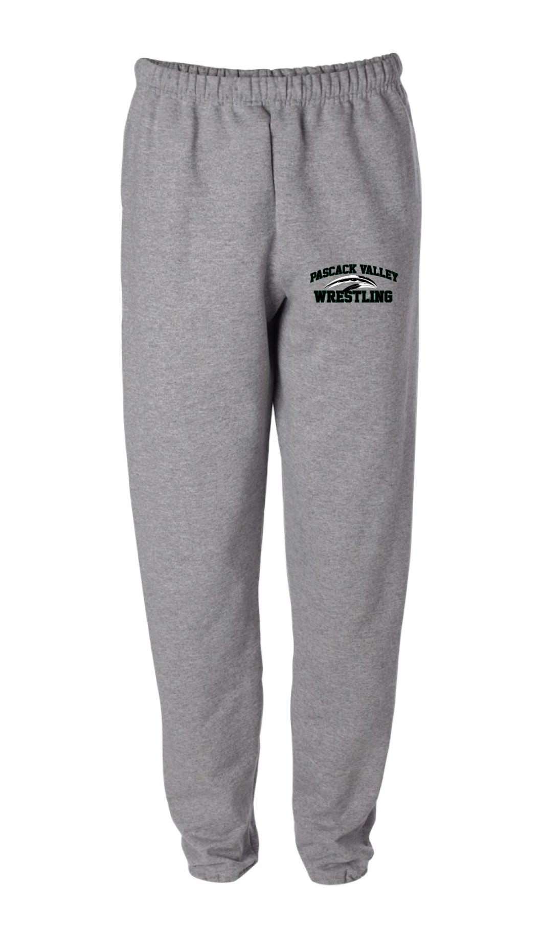 Pascack Valley Wrestling Cotton Sweatpants - Gray - 5KounT2018